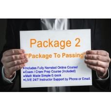 """Sales Associate Pre-License Package 2- """"PACKAGE TO PASSING"""" V30- 12 month enrollment"""