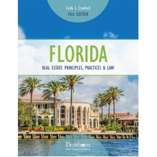 Textbook for Sales Associate Pre-License Course- Florida Principles, Practices & Law. NEW 44th Edition